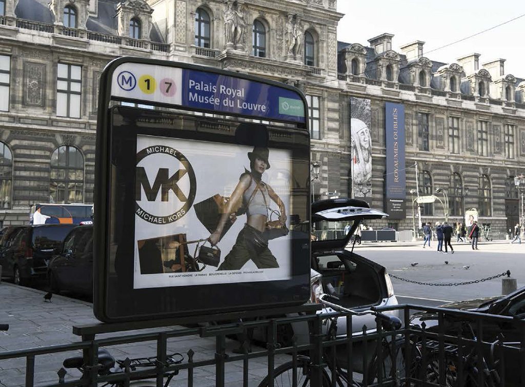 europemedia_systèmes publicitaires France Paris entree metro shopping network